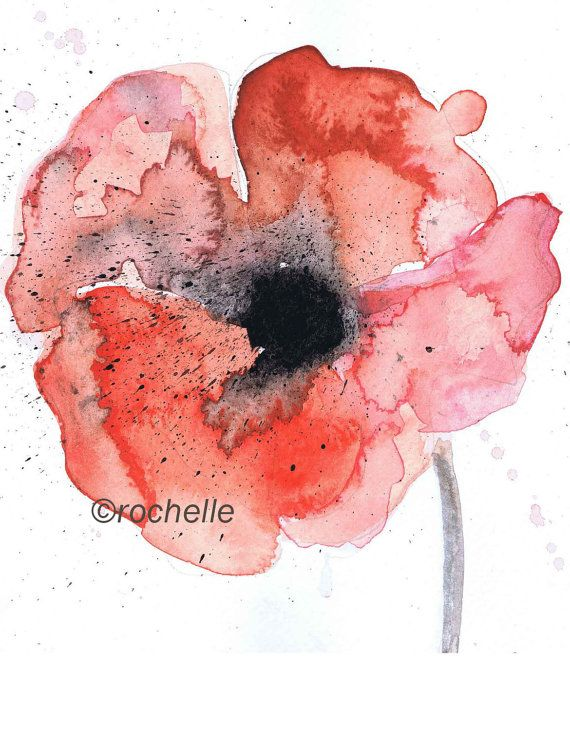 Red Poppy card by rochelle31 on Etsy (Art & Collectibles, Prints, hand made, red, poppy, flower, romantic, poppy card, Mother's day card, Valentine's day card, gift for her, floral card, wedding card, birthday card, anniversary card)