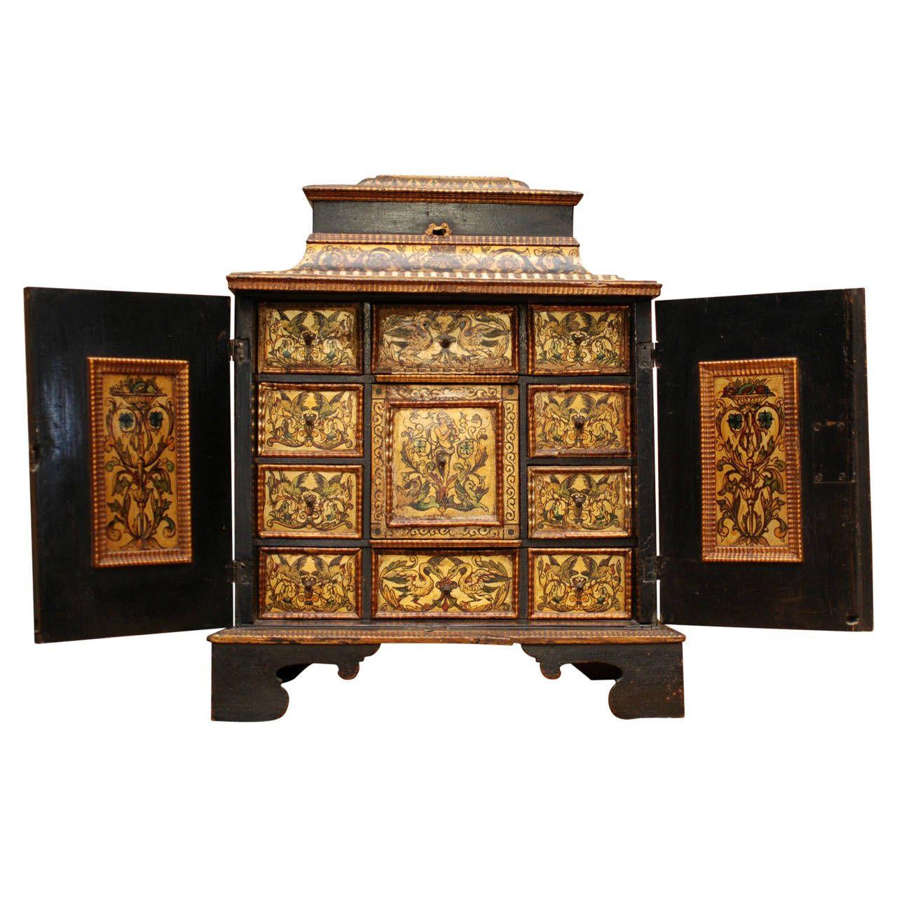 Small Italian 17th Century Cabinet Cajas # Muebles Boj Gijon