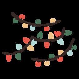 Ilustracion De Decoracion De Luces De Navidad Ilustracion De Navidad Fondo De Pantalla Navideno Fondo De Luces De Navidad