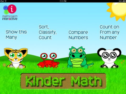 KINDER MATH allows students to develop and practice early math ...