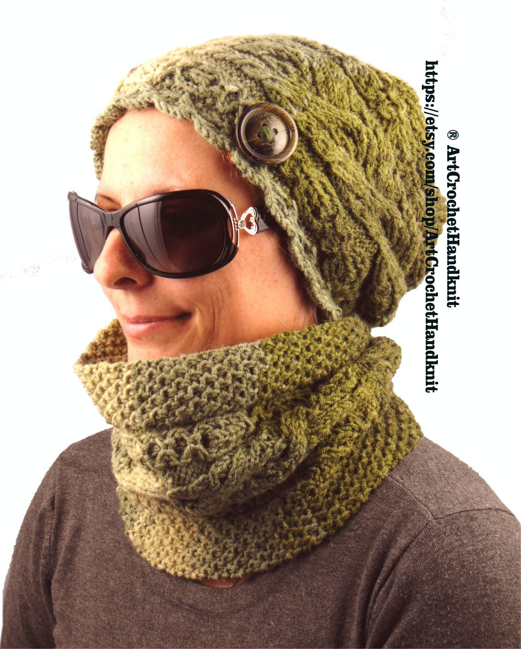 3455e0ae0a0 Womens winter hat and scarf set