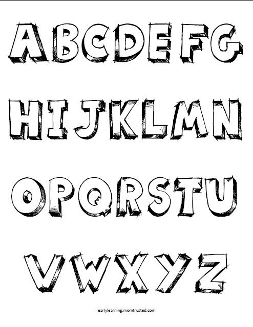 Coloring Pages Graffiti Abc Letters
