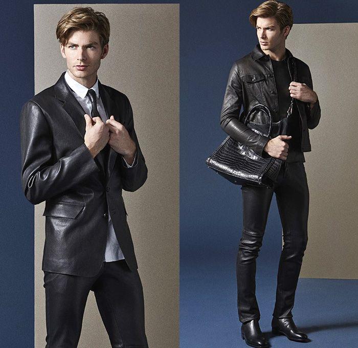 7ce356b6066 Jitrois 2014 Spring Summer Mens Lookbook Collection - Minimal Coated Denim  Jeans Vest Leather Suede Hooded Motorcycle Biker Jacket Suit  Des.