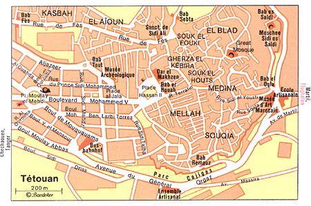 Ttouan Plan Medina MAROKKO Weltkulturerbe Pinterest