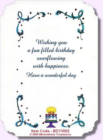 Birthday verses on pinterest greetings