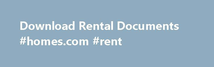 Download Rental Documents #homes #rent   rentaremmont - apartment rental contract sample