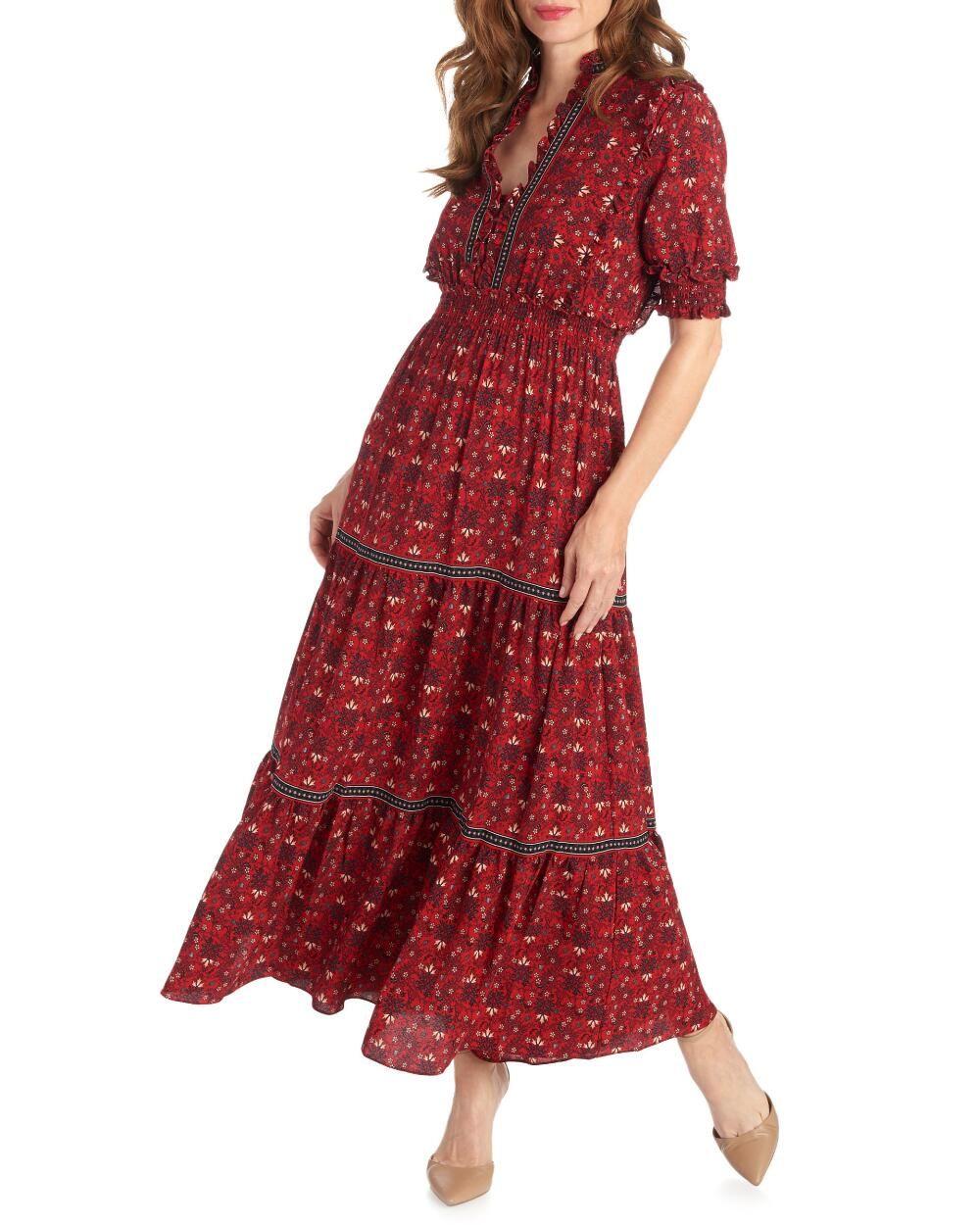 Max Studio Tiered Floral Crepe Maxi Dress S Polyester Maxi Dress Occasion Maxi Dresses Dresses [ 1250 x 1000 Pixel ]