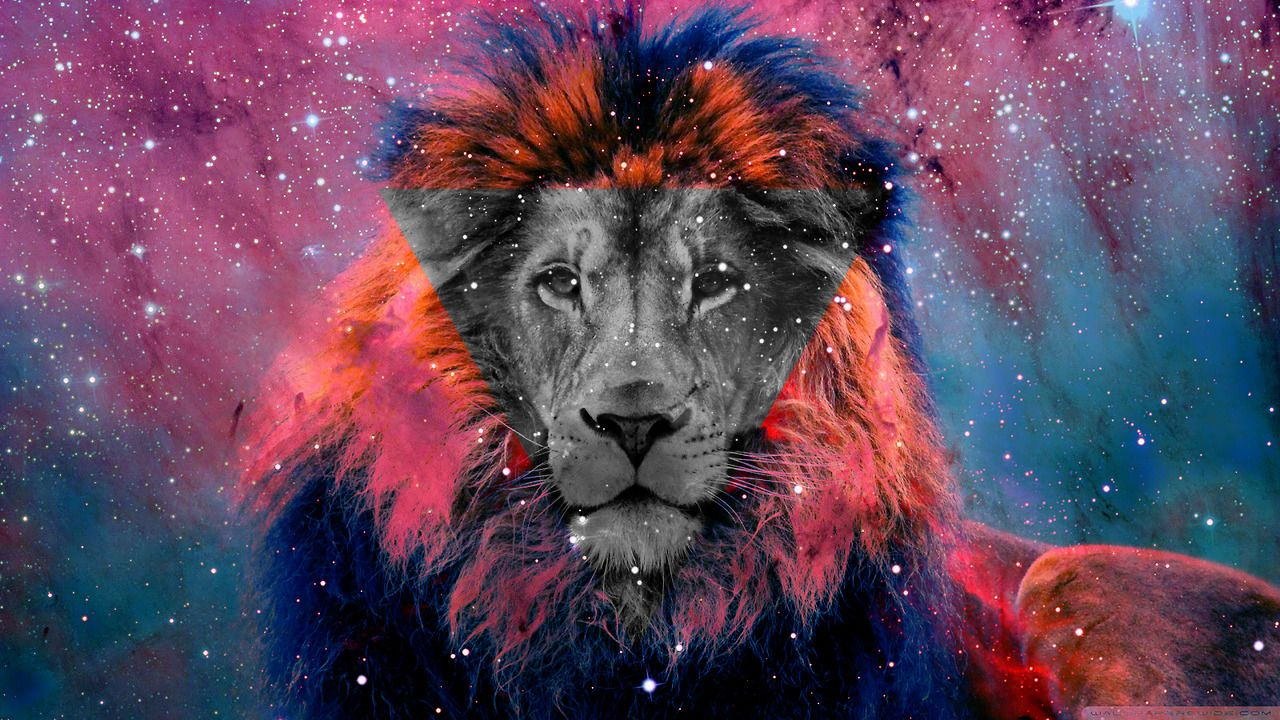 lion in triangle - Google Search