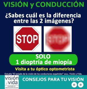 La diferencia, una dioptría de miopía