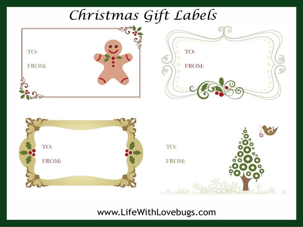 Free christmas gift tag label printable christmas pinterest free christmas gifts for Christmas tags on pinterest