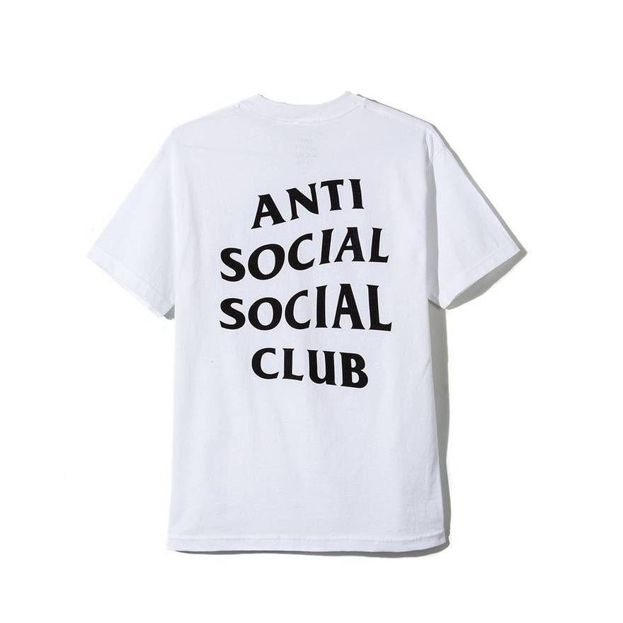 1d03766c2 ASSC Anti Social Social Club White Logo 2 Tee FREE SHIPPING! SUPREME BAPE  NIKE
