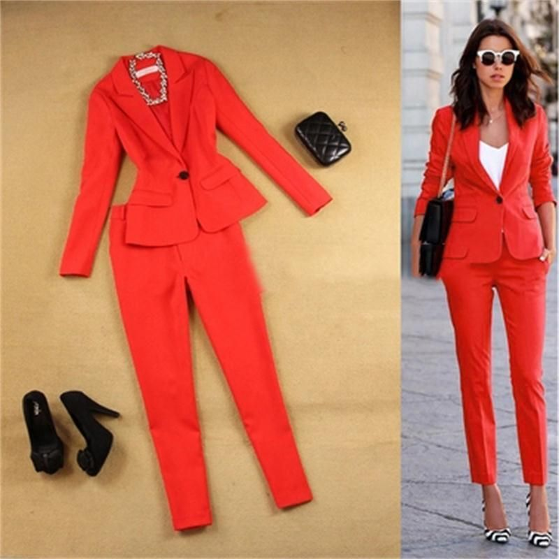 Fashion Pants Suit Two piece Women Suit Trouser Suit for