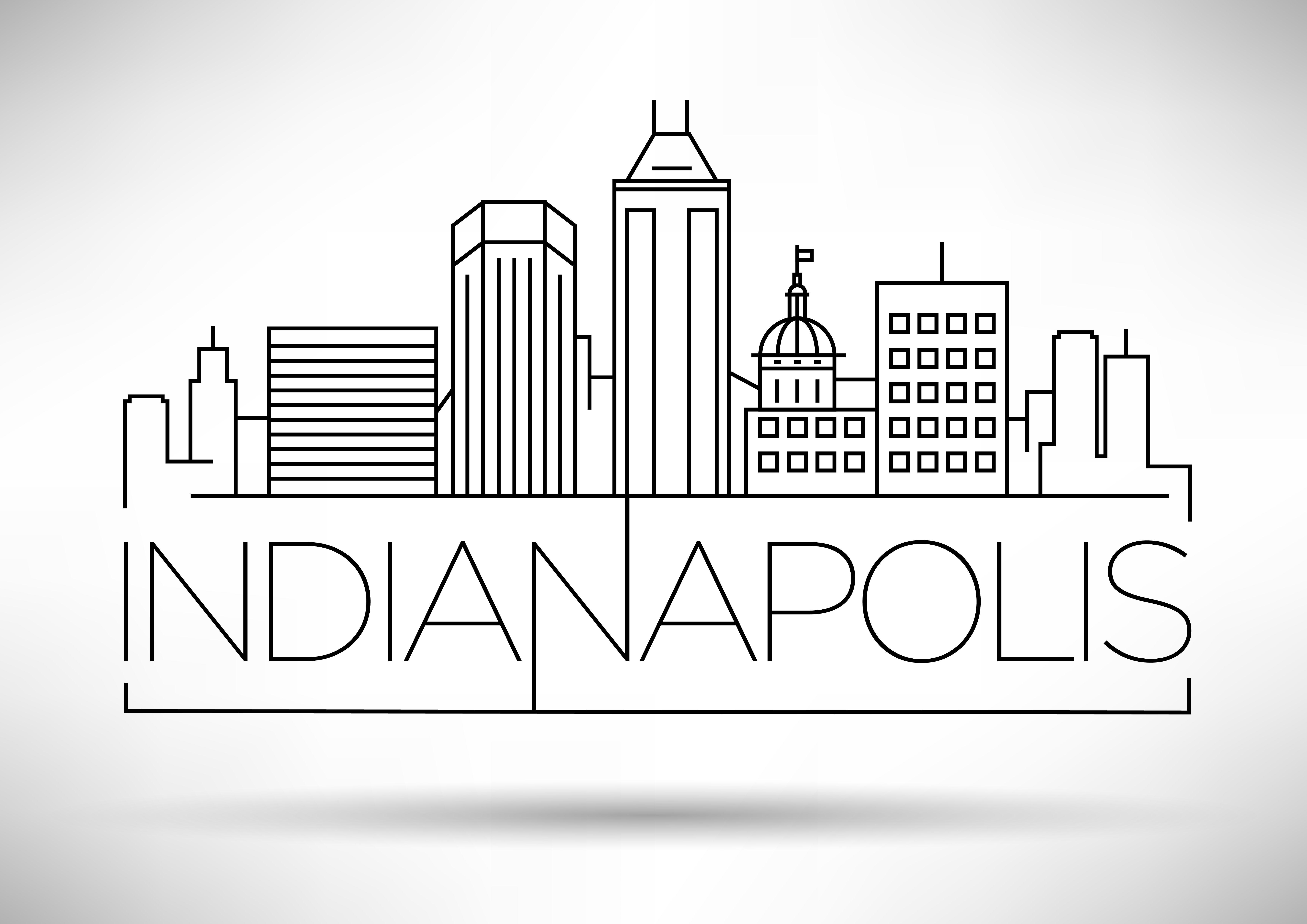 Minimal Indianapolis Skyline in 2020 | Indianapolis ...