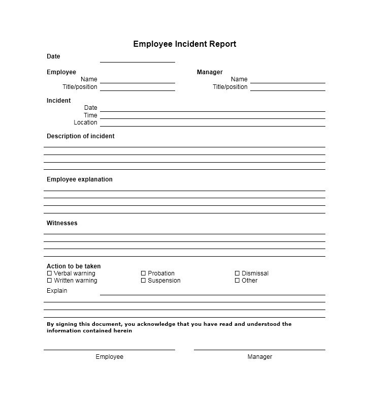 It Incident Report Template 5 Templates Example Templates Example