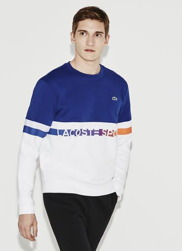 31c8552180 Sweatshirt Lacoste SPORT en molleton color block avec lettrage ...