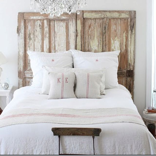 Love old doors as headboards | Home Decorating | Pinterest | Me ...