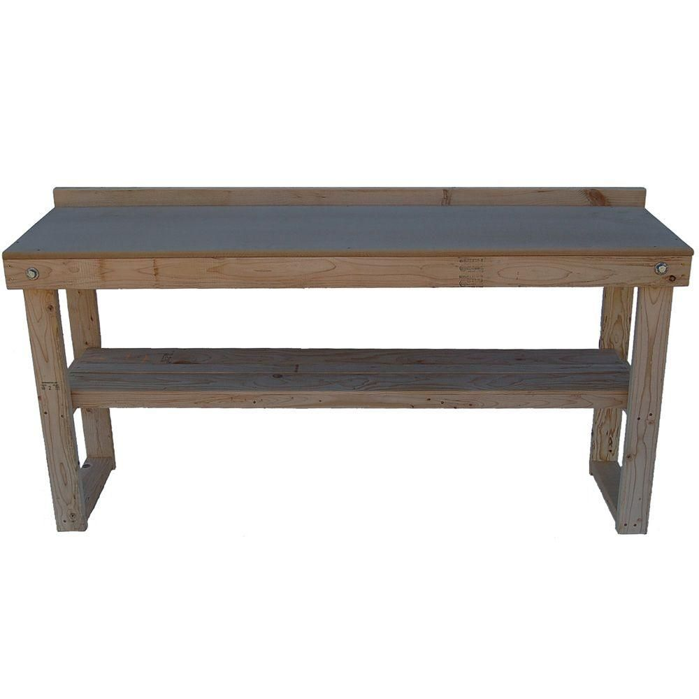 Fold-Out Wood Workbench (Common: 72 in.; Actual: 20.0 in. x 72.0  in.)-WKBNCH72X22 - The Home Depot