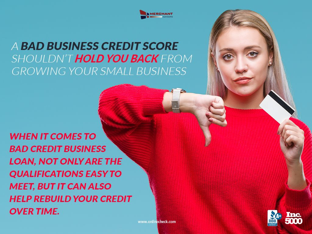Guaranteed Bad Credit Business Loans Merchant Advisors Business Loans Loans For Bad Credit Bad Credit