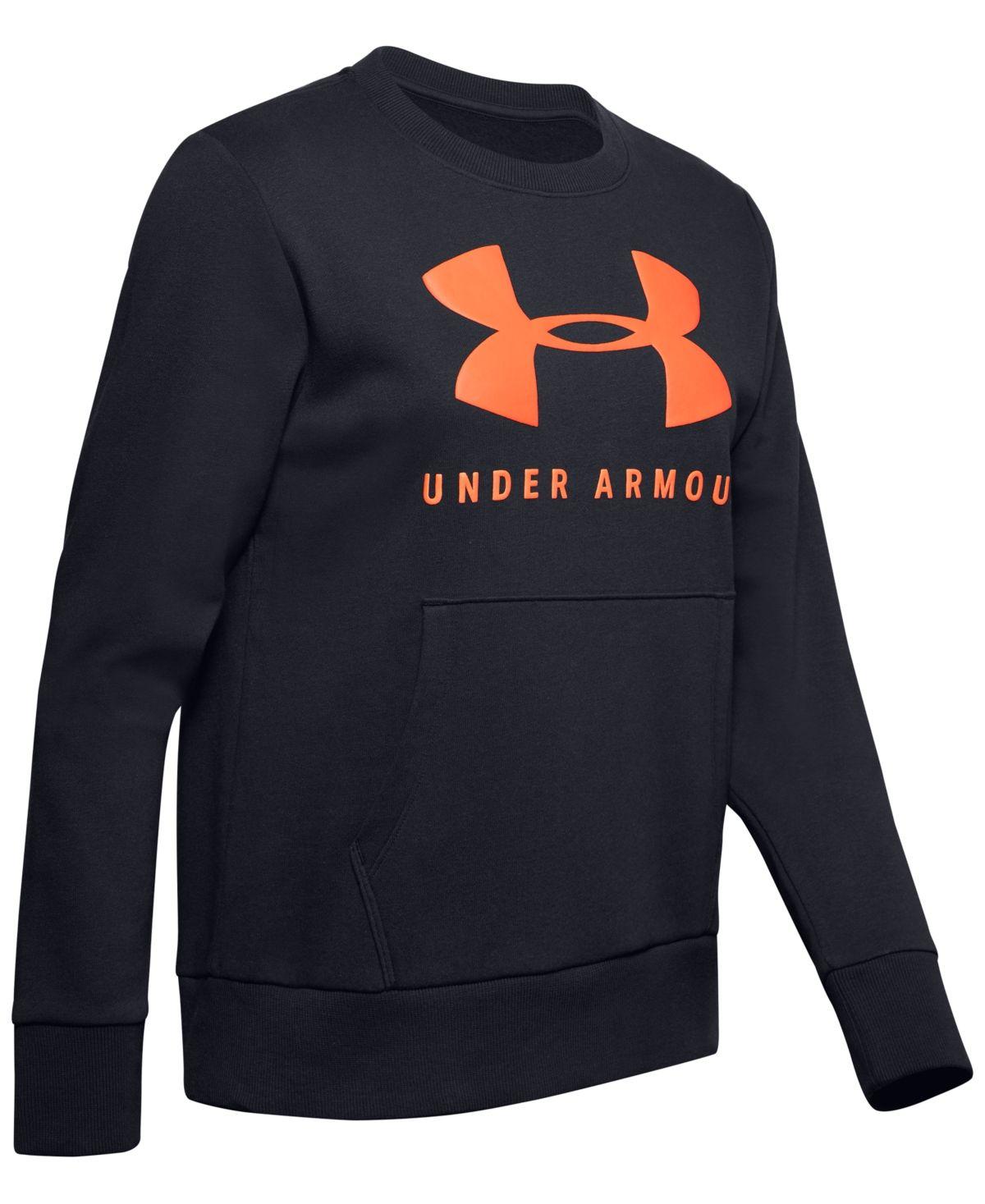 Under Armour Boy/'s /'UA RIVAL/' LOGO LONG SLEEVE HOODIE NEW!!