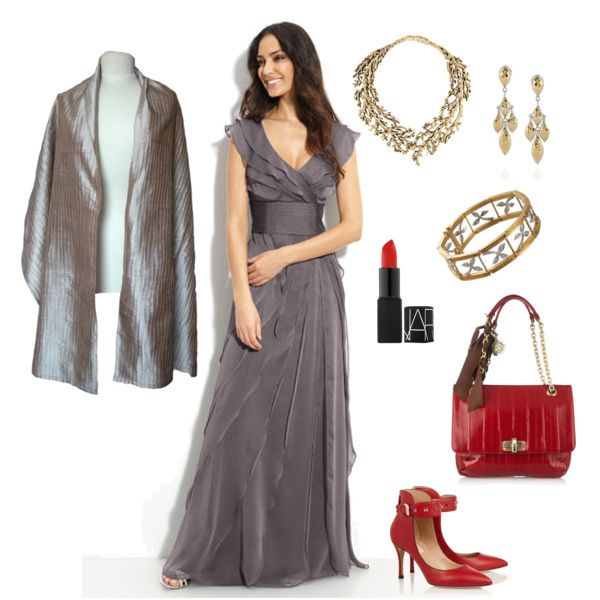 Metallics with a touch of red