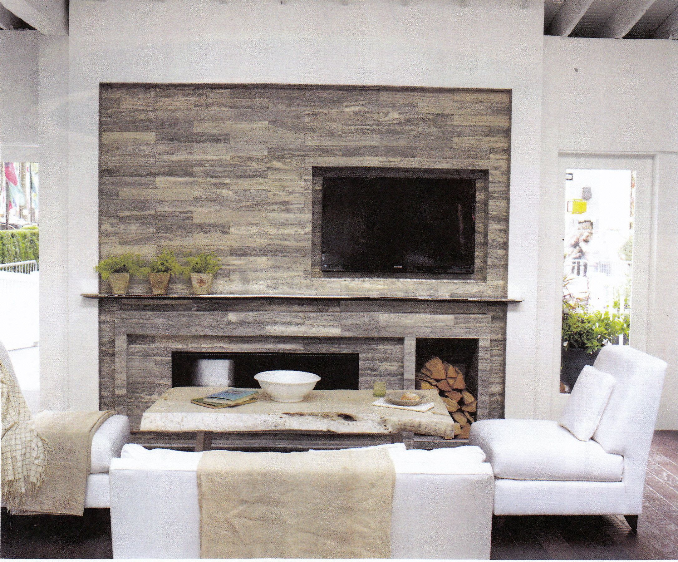 Asymetric Maybe With Wainscot Over Mantel Fireplace Design
