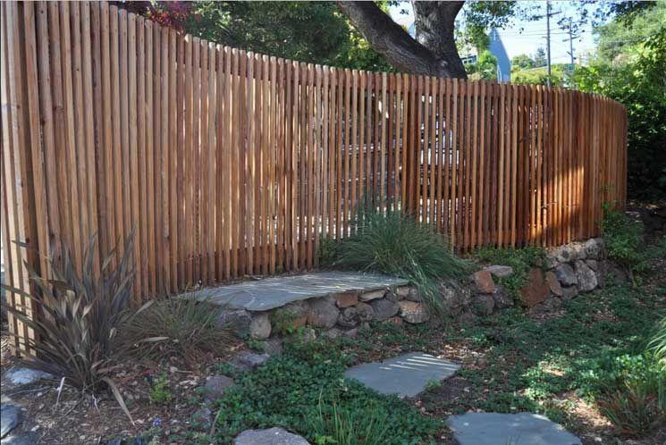Holzzaune Coole Ideen Fur Den Garten Mit Geschwungene Gartenzaun