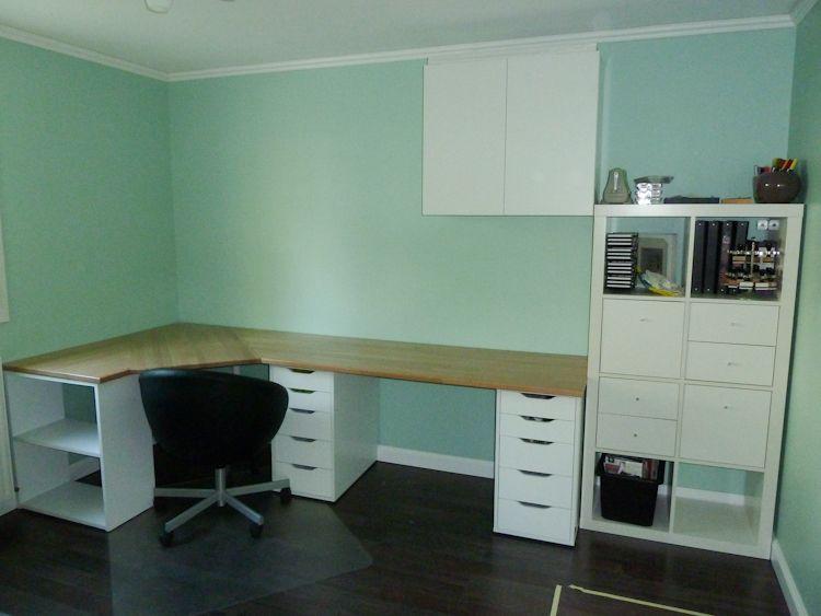 fabriquer un bureau d 39 angle dans le bureau pinterest. Black Bedroom Furniture Sets. Home Design Ideas