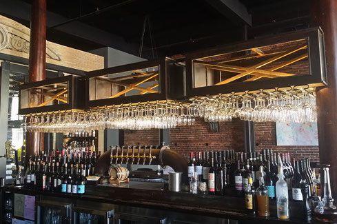 Grant Irish Bar Restaurant Hanging Glass Rack Ballentine