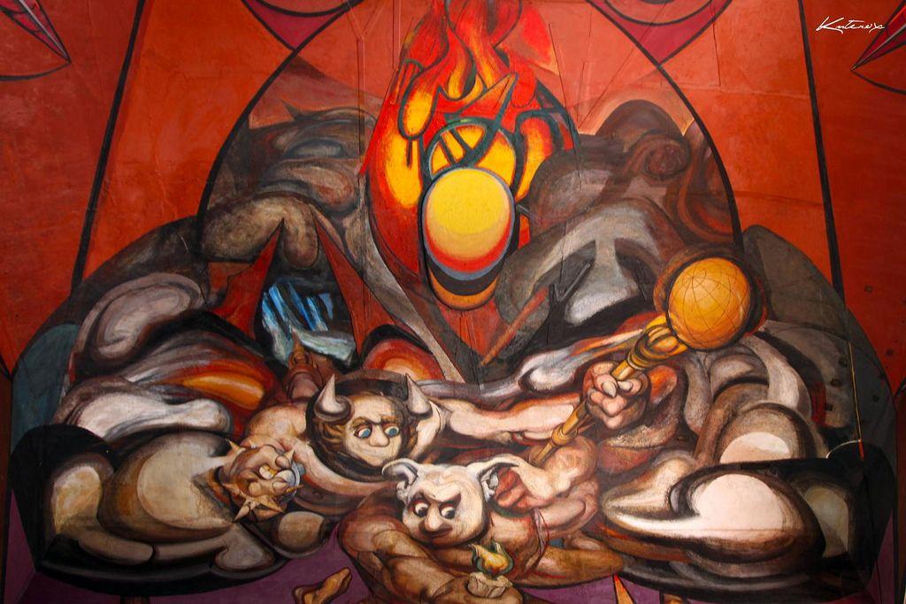 Mural David Alfaro Siqueiros Arte Mexicano Artistas Pinturas