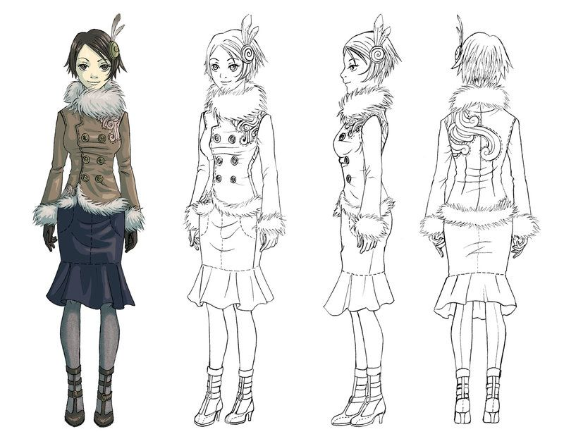 Anime Female Character Design : Model sheet by livanya pinterest models