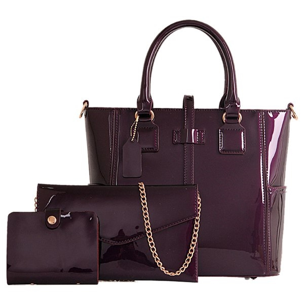 40.11$  Buy now - http://dio4e.justgood.pw/go.php?t=180931102 - Stylish Patent Leather and Solid Color Design Women's Tote Bag 40.11$