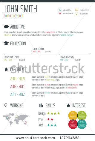Resume Vector by Antun Hirsman, via ShutterStock Graphic Design