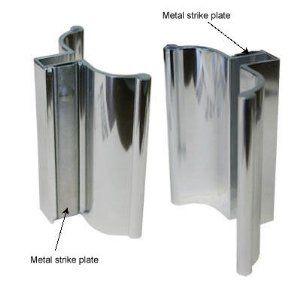 Bright chrome frameless shower door handle with metal strike by bright chrome frameless shower door handle with metal strike by gordonglass 1795 for retrofit planetlyrics Images