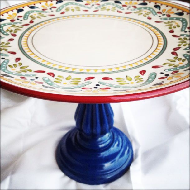 Cake Stand using wide candle holder and plate. I do the same thing with vintage cheese boards. I paint them and they look great! Kay R.  sc 1 st  Pinterest & Cake Stand using wide candle holder and plate. I do the same thing ...