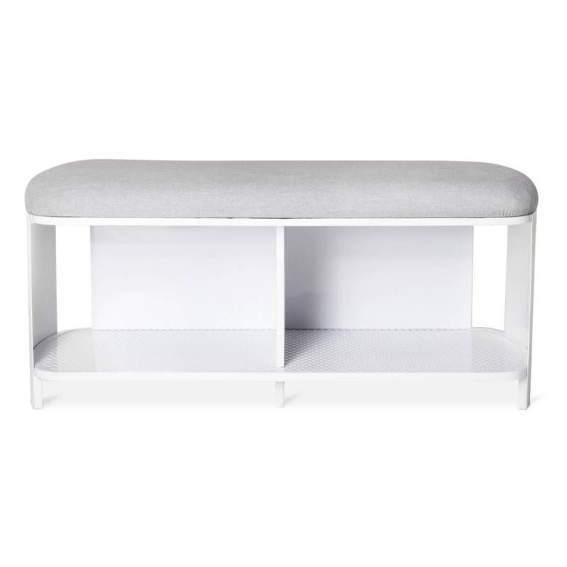 Outstanding Bench White Gray Modern By Dwell Magazine Target Expect Andrewgaddart Wooden Chair Designs For Living Room Andrewgaddartcom