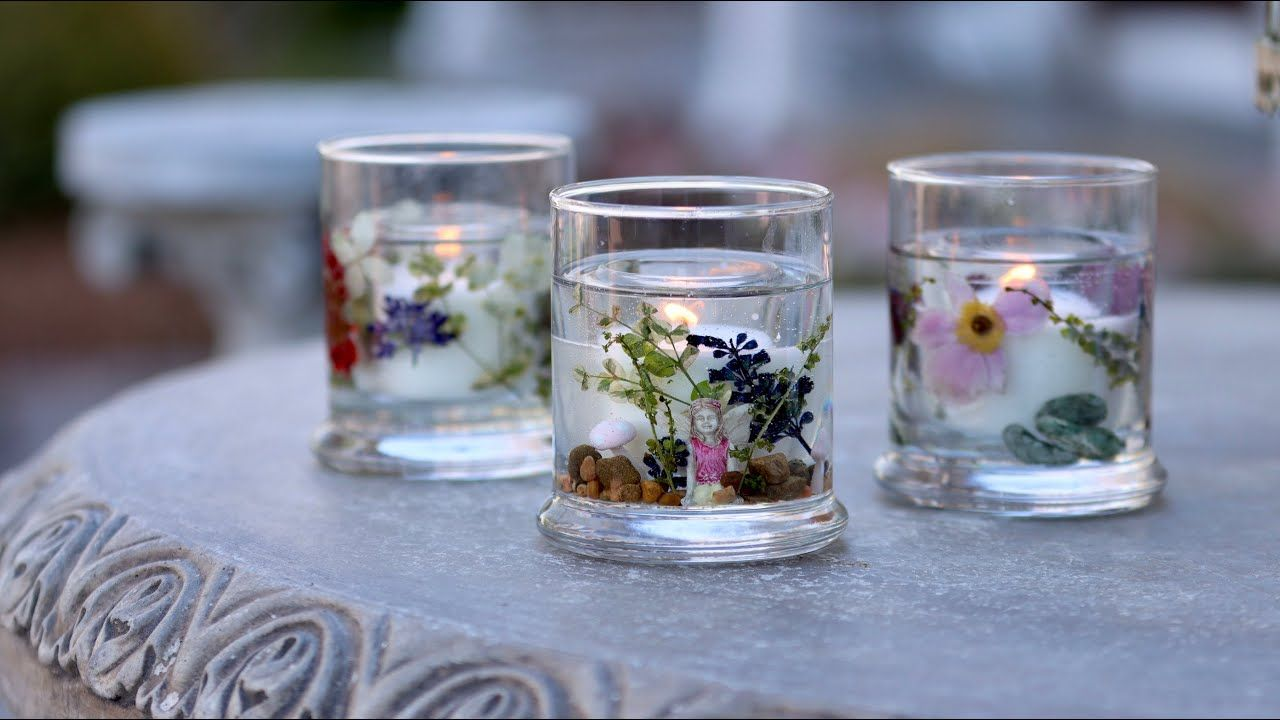 Diy dried flower resin candles garden answer