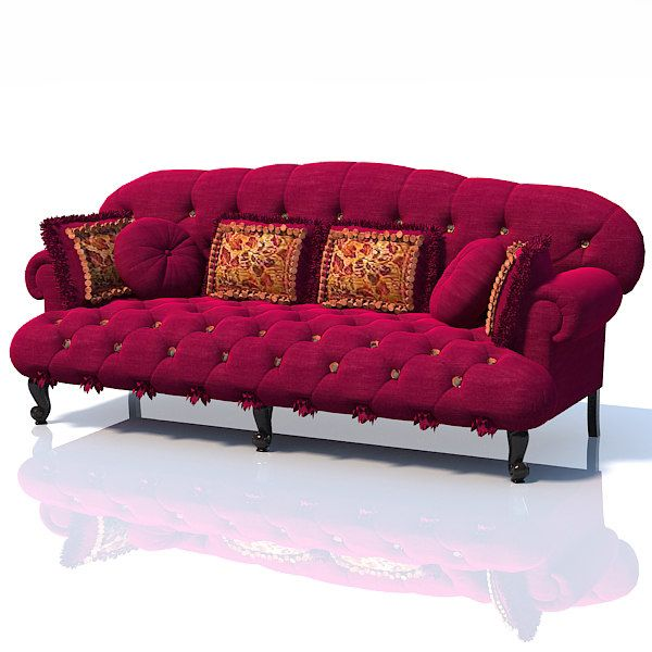 Baroque Upholstered Model Available On Turbo Squid The World S Leading Provider Of Digital Models For Visualization Films Television And