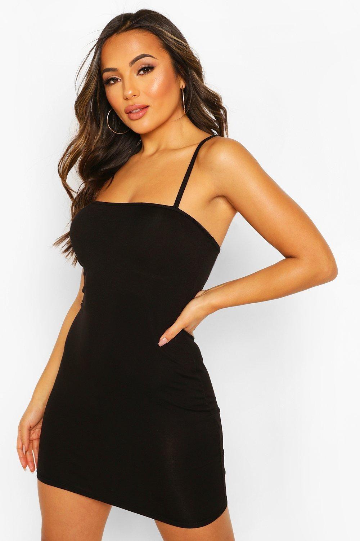 Petite Square Neck Mini Bodycon Dress Boohoo Body Con Dress Outfit Black Bodycon Dress Casual Dress Outfits [ 1500 x 1000 Pixel ]