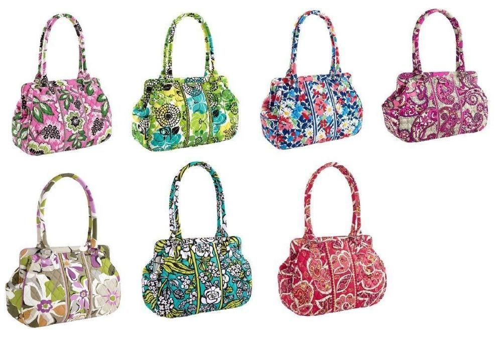 NEW B21 Vera Bradley Frame Bag purse Island Blooms Limes Up Rosy ...