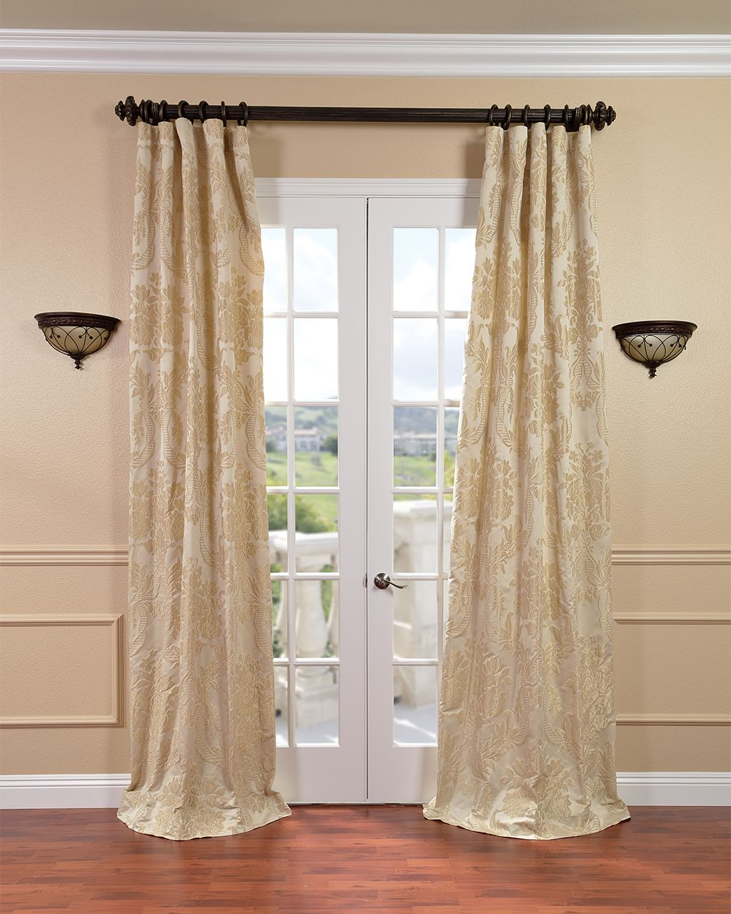 These Faux Silk Jacquard Curtains Add A Touch Of Elegance To Your Living Room