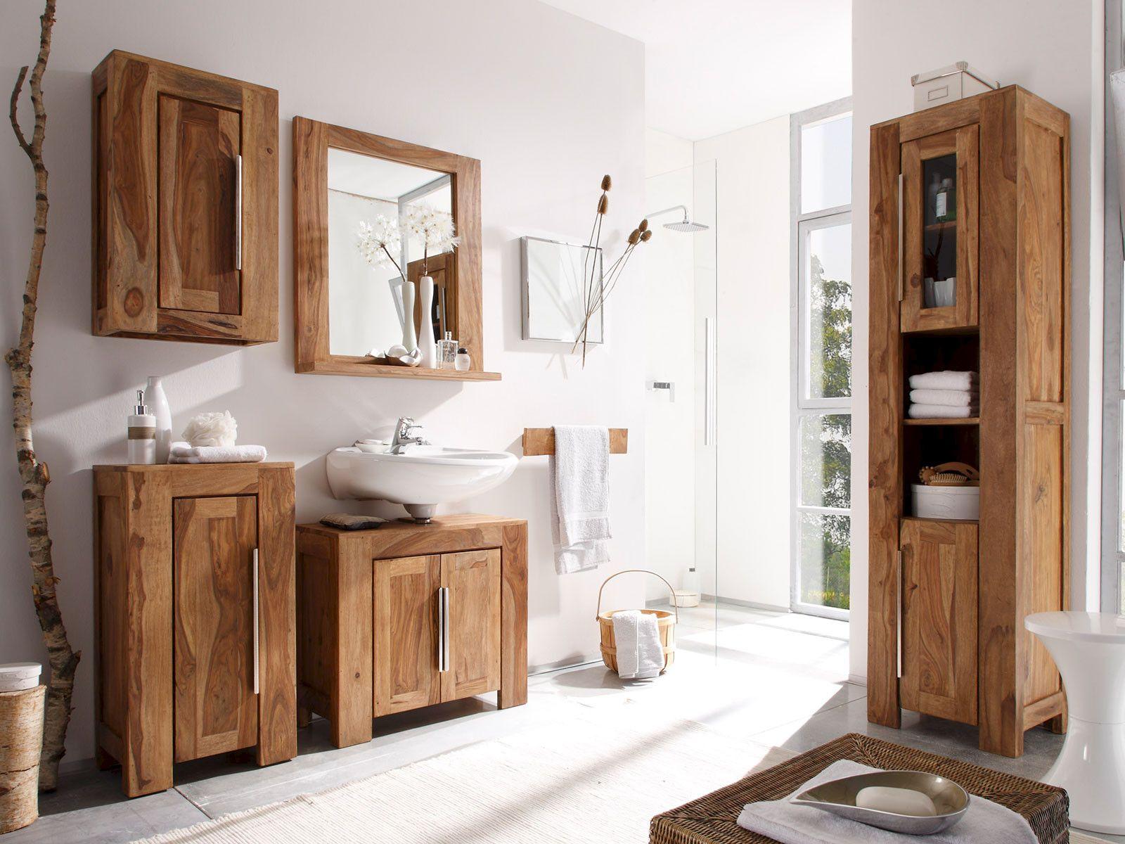 Bad Unterschrank Holz Badmobel Holz Badezimmer Gunstig Und Rustikale Badezimmer Designs