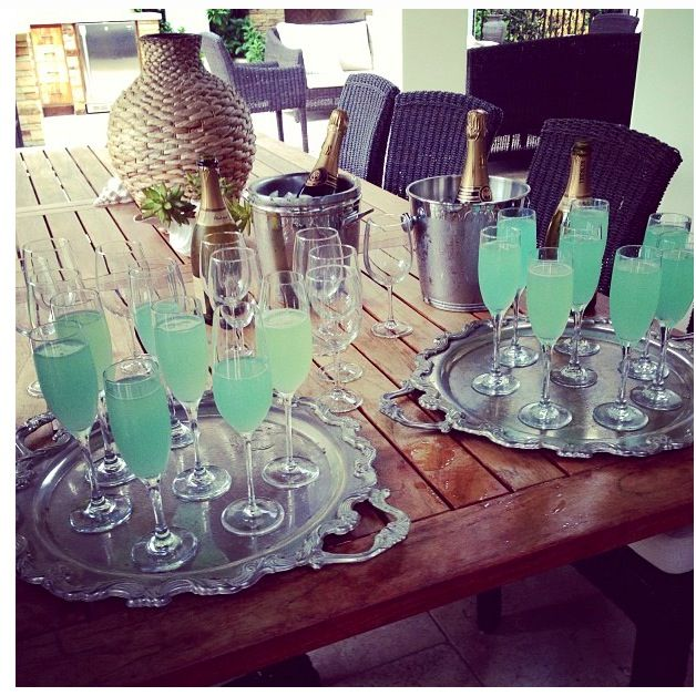 Baby shower!!! Gender reveal!!! With sparkling white grape juice ...