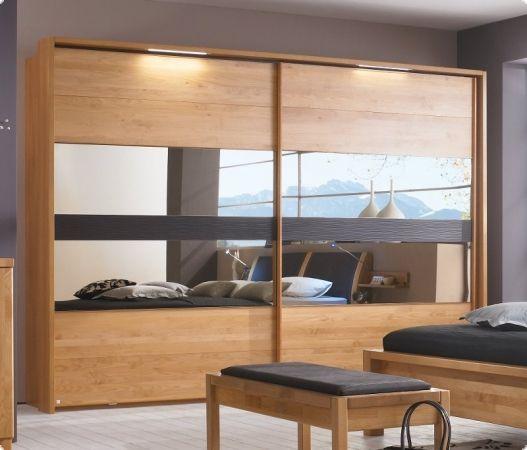 massivholz kleiderschrank schwebet ren erle massiv mocca. Black Bedroom Furniture Sets. Home Design Ideas