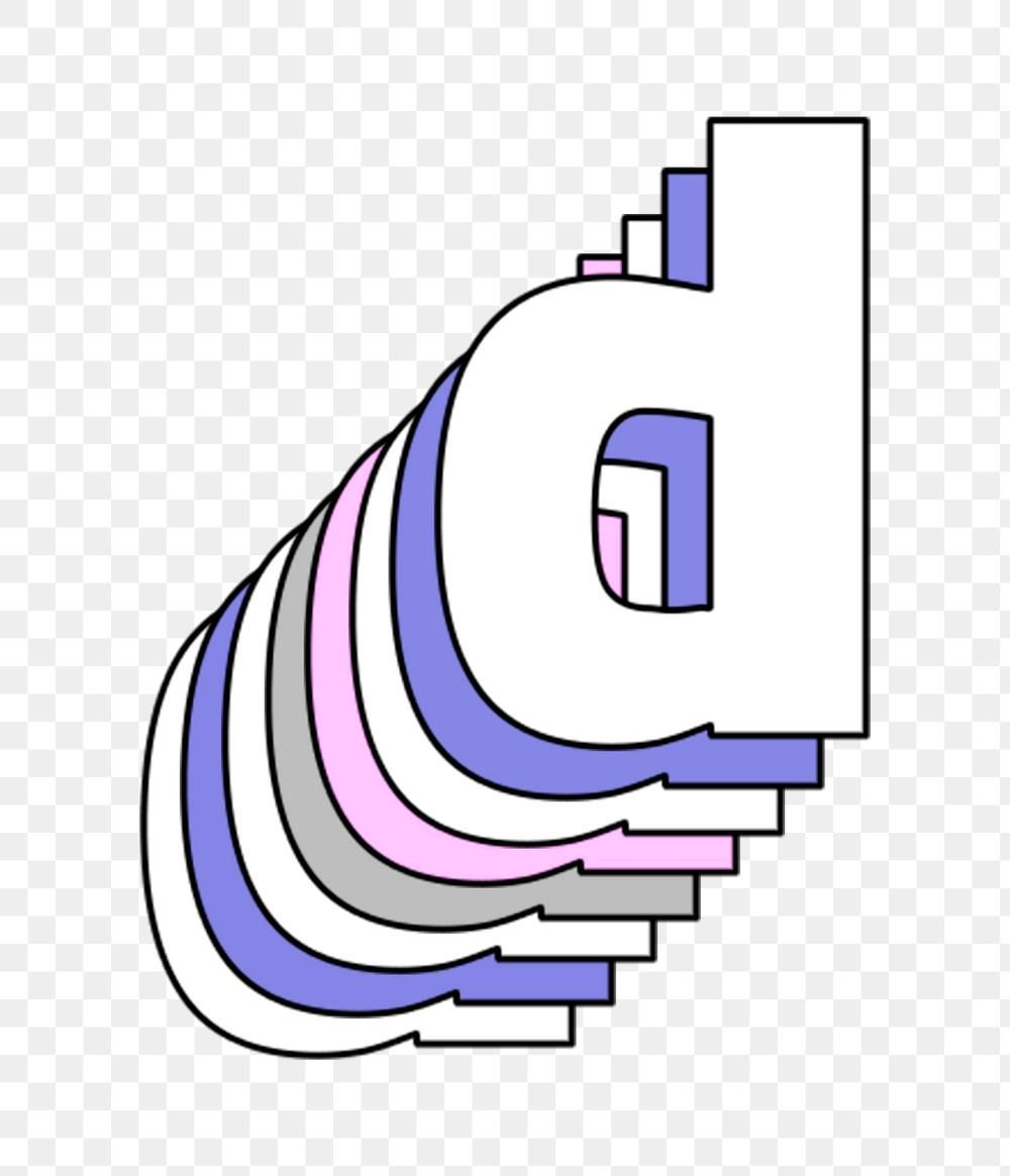 Layered Letter D Png Pastel Stylized Typography Free Image By Rawpixel Com Gade Lettering Letter D Typography