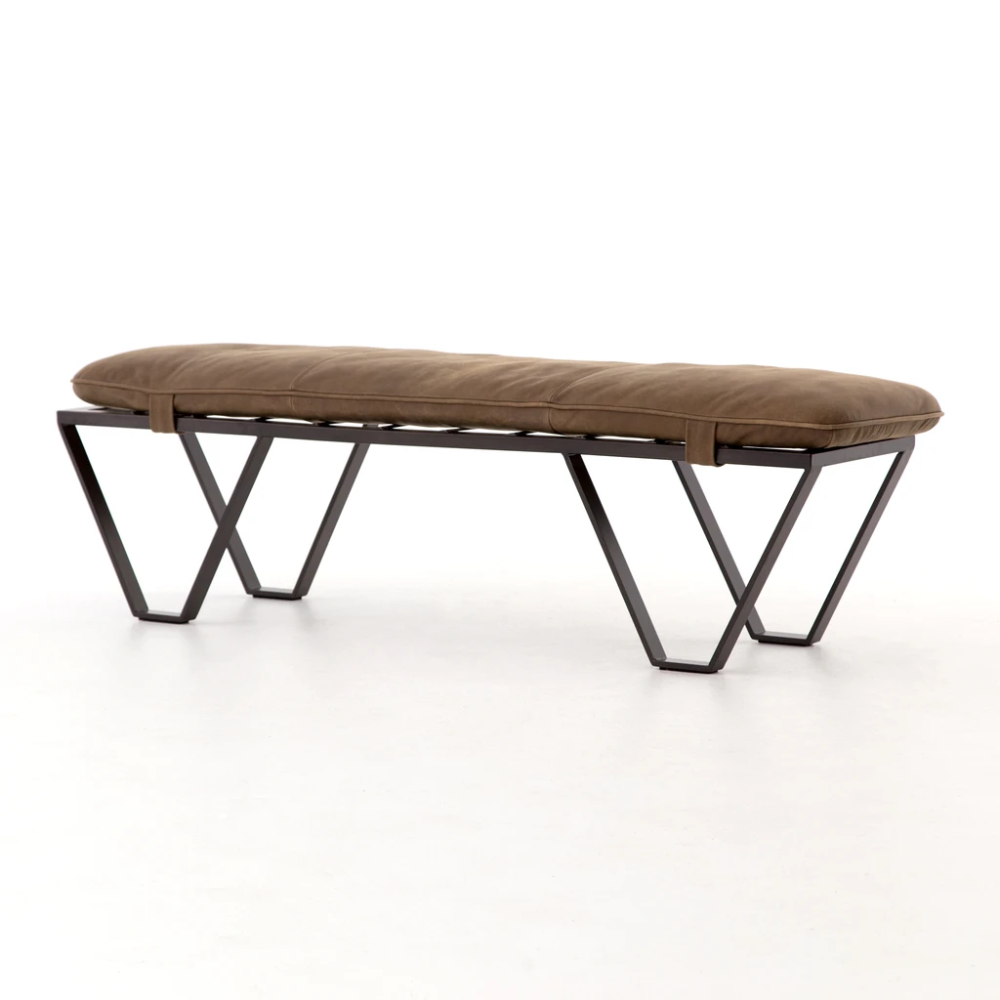 Darrow Bench in Umber Grey – BURKE DECOR