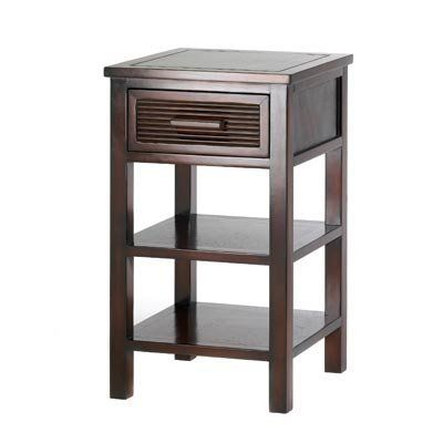 santa rosa drawer shelves night stand side end table by furniture creations 8649 captivating - Dark Wooden Side Tables