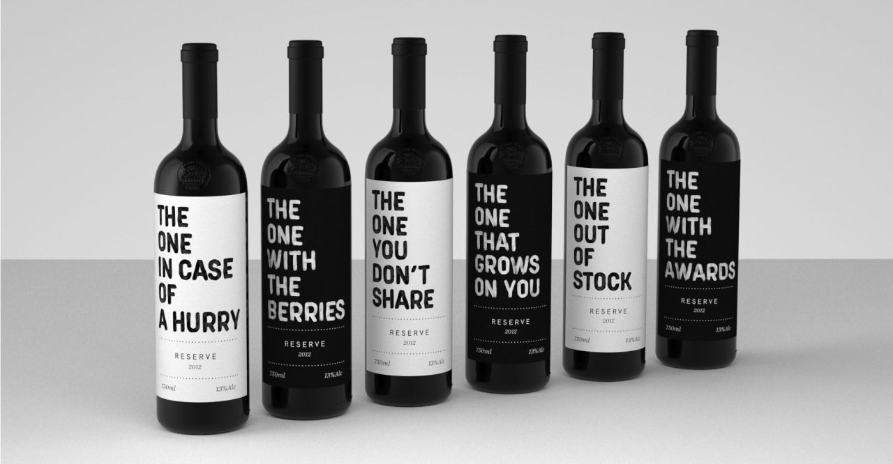"""Realist     http://realistbranding.com """"Let us jump ahead and suppose that you were at least once in a position to recommend a great wine to a friend, but the name and the specific label were just too hard remember and recollect. Don't worry, you are not to blame. That is probably due to the traditional and unimaginative labels that pack the store shelves (or at least the store shelves we frequent). With those two problems in mind we crafted a strategy to bring common everyday ..."""