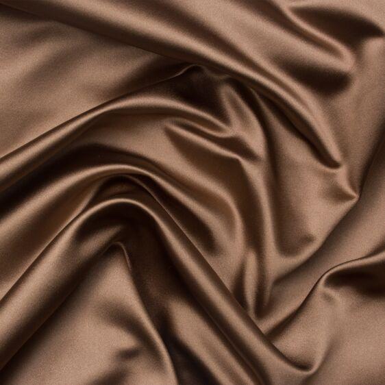 Soft Brown Silk Duchess Satin