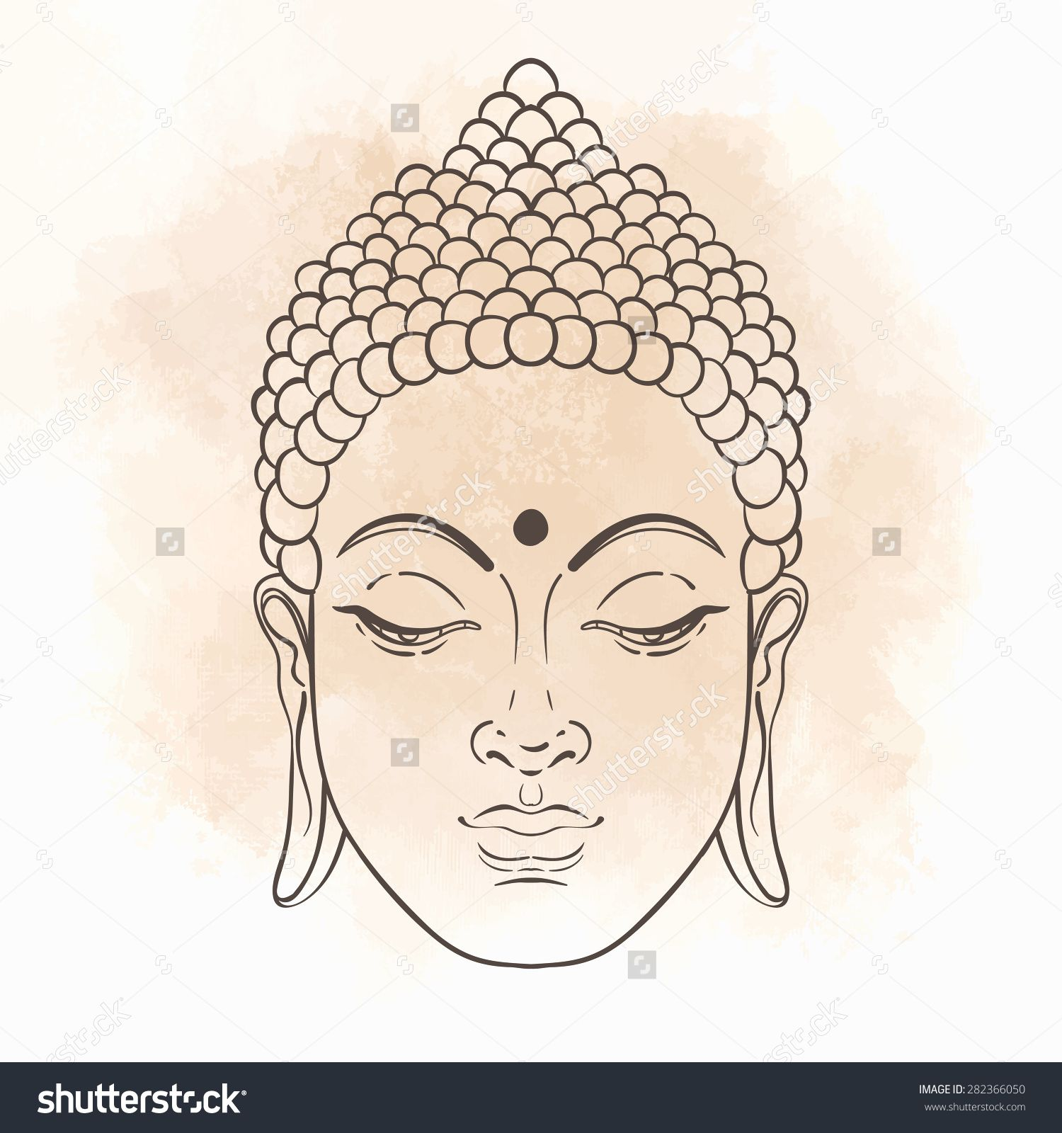 D Line Drawings Quotes : Stock vector head of buddha illustration isolated