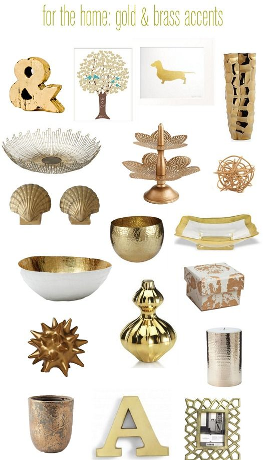 Touches Of Brass Gold Gold Home Decor Apartment Decorating